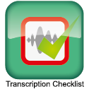 Transcription Checklist
